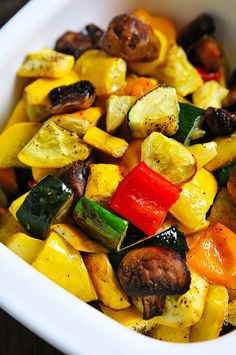 Roasted Vegetables Recipe - I usually grill veggies, but it's too cold out to do that. I'll have to try this way of doing it.