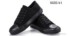 Men's Lace Up Low Top Canvas Shoes Sneakers (Size 41/Black) Footwear 5068602 - https://xtremepurchase.com/TechStore/2016/09/01/sports-outdoors-footwear-5068602/