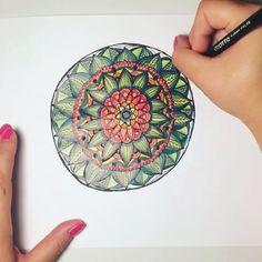 Mandala ❤️#mandala #arteterapia #disegnomatita #disegno #drawing #arte #mandalamonday #mandalas