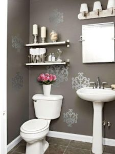 Shimmer U0026 Shine Put A Little Zing In Your Powder Room With Wall Decals.  Easy To Apply And Affordable, These Pockets Of Pattern Give This Bathroom  Just The ...