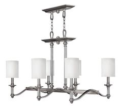View the Hinkley Lighting 4796 Sussex 6 Light 1 Tier Linear Chandelier at LightingDirect.com.