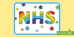 This Colour the NHS with a Rainbow Poster is perfect for children to colour in and put in your window at home to add to a local rainbow trail of thanks. Rainbow Activities, Color Activities, Craft Activities, Thank You Poster, Mindfulness Techniques, School Closures, Unicorn Crafts, Oldest Child, Home Learning