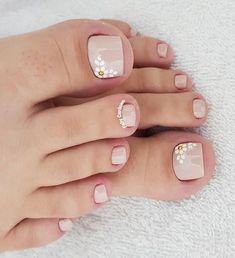 Cute Toenail Designs, Pedicure Designs, Manicure E Pedicure, Toe Nail Designs, Cute Toe Nails, Toe Nail Art, Pretty Nails, Classy Acrylic Nails, Cute Pedicures