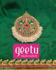 For customising your outfits - whatsapp 9133502232 Embroidery On Kurtis, Aari Embroidery, Bead Embroidery Patterns, Embroidery Works, Kids Blouse Designs, Blouse Designs Silk, Bridal Blouse Designs, Magam Work Blouses, Stone Work Blouse