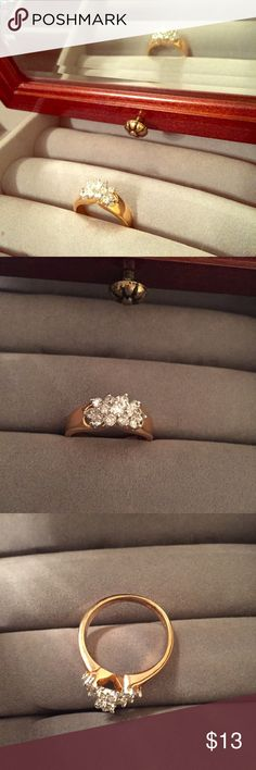 Engagement Style Ring This ring speaks for itself! Dazzling Engagement Inspired Ring that'll be sure to make people do a double-take. This ring does run large. Jewelry Rings