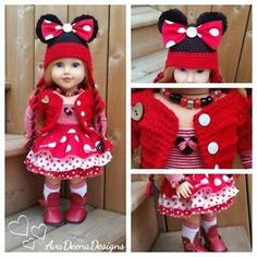 Complete-Minnie-Mouse-outfit-clothes-for-18-inch-doll-american-girl-doll