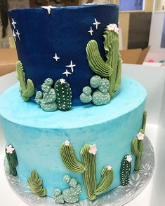 A cactus cutie cake Fancy Cakes, Cute Cakes, Pretty Cakes, Beautiful Cakes, Amazing Cakes, Cactus Cake, Cactus Food, Cactus Cactus, Piece Of Cakes