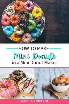 Mini donuts are easy to make in a mini donut maker. Your kids will love making them too. Mini Donut Maker Recipes, Donut Places, Bacon Donut, Mini Donuts, Chocolate Chip Recipes, Good Food, Favorite Recipes, Cooking, Breakfast