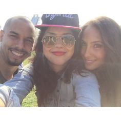 Bryton James, Alyssa Diaz & Christel Khalil at Air & Style Festival at the Rose Bowl February 21, 2015