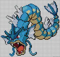 Gyarados - Pokemon perler bead pattern
