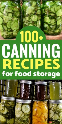 Canning Recipes: Preserve your own food with more than 100 canning recipes for water bath canning, pressure canning. Recipes for canning vegetables, fruits, jellies, and meats