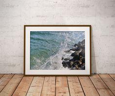 Jersey Shore Photograph, Long Beach Island Wall Art, Ocean Rock Photo, Coastal Wall Decor, Beach Wall Art, Water Wall Decor, Ocean Wall Art