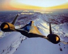 SR-71 Lockheed Blackbird Military Planes Poster 16x20... not one I have but I dig it