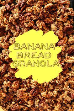 Banana Bread Granola! via MINIMALISTBAKER.COM