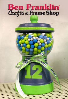 Ben Franklin Crafts and Frame Shop: DIY Seahawks 12 Fan Candy Jar