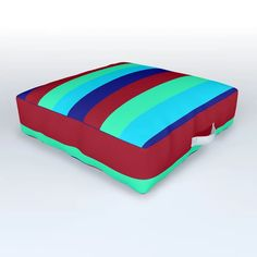 Caribbean Outdoor Floor Cushion by scardesign Outdoor Floor Cushions, Outdoor Furniture, Outdoor Decor, Caribbean, Stripes, Comfy, Colorful, Decoration, Modern