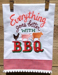 Everything Goes Better With BBQ by seechriscreate on Etsy