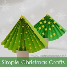 How to Make a Paper Christmas Tree – I think this is so cute and so easy to make too. Must remember this during Christmas break!