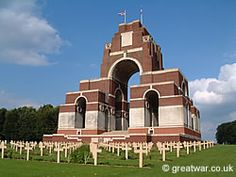 The Thiepval Memorial to the Missing, where the names of over officers and men of the British and South African Forces are commemorated on the Somme battlefields. Battle Of The Somme, Military Cemetery, Lest We Forget, Remembrance Day, World War One, German Army, Study Abroad, Pilgrimage