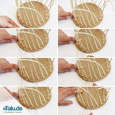 Dreiergeflecht Mit Peddigrohr Youtube Crochet Flechten Korb