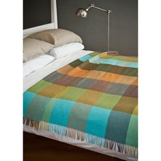 mahon lambswool throw by avoca