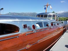Launched in 1940, by a man so rich he owned pretty much the entire east shore of Lake Tahoe, the Thunderbird represents the absolute hight of art deco wooden boat design.