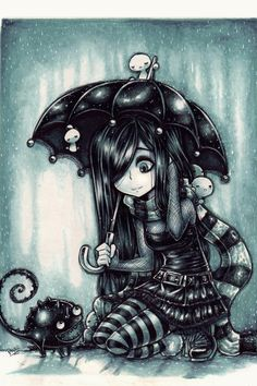 New friends in the rain by Parororo (print image)