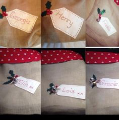 Excited to share the latest addition to my #etsy shop: Handmade christmas sacks #homedecor #nametag #christmas #santa #hessian #unique #organic