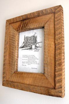 Rustic Reclaimed Barn Wood Picture Frame
