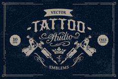 Check out Tattoo Studio Emblems by Sergey Kandakov on Creative Market