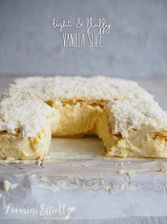 Best Fluffy Vanilla Slice @ Not Quite Nigella Baking Recipes, Cake Recipes, Delicious Desserts, Yummy Food, Vanilla Desserts, Vanilla Recipes, Custard Slice, Dessert Crepes, Cooking Stores