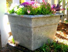 DIY! How to faux finish a PLASTIC flower pot to make it look like expensive stone!