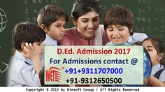 Get detailed information regarding Haryana SCERT D.Ed. admission 2017. For admission and other details contact @ 09311707000, 09312650500.