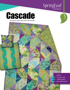 Cascade pattern cover | Cascade quilt pattern by SpringLeaf … | Flickr