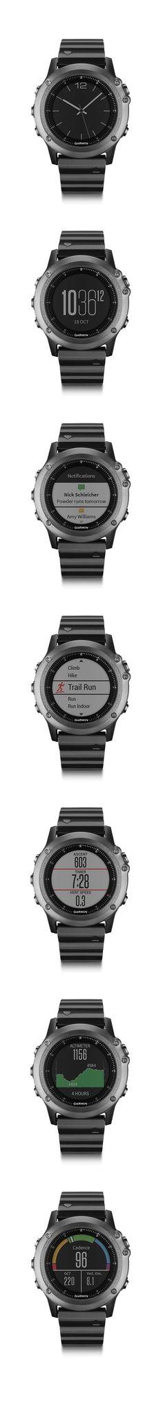 Fenix 3 Sapphire. World's first adventure sport training Garmin GPS/GLONASS watch. #Fenix3: