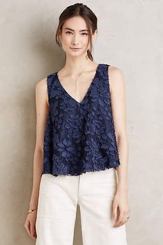 I love the texture of this. Style too. --- Kenia Swing Tank - anthropologie.com