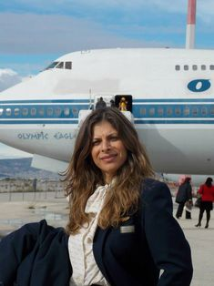 Helen, Olympic Airways' Air Hostess 1992 to 2009 Olympic Airlines, European Airlines, International Flights, Aircraft Pictures, Cabin Crew, Flight Attendant, Lady And Gentlemen, Cyprus, Airplane