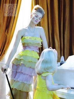Toni Garrn by Miles Aldridge for Vogue Italia March 2010