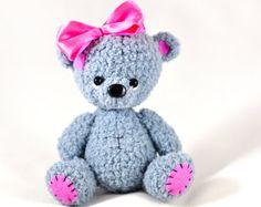 Crochet Amigurumi Bear Stuffed Toy Crochet Bear Teddy Bear