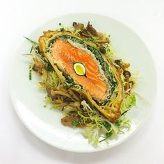 """""""Sometimes I like to geek out on #theclassics Salmon Coulibiac @cafebouludny @danielboulud"""""""