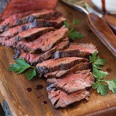 Bourbon Beef Tenderloin - Paula Deen Magazine - New Recipes - - Prime Ribs - Bourbon Recipes, Meat Recipes, Dinner Recipes, Cooking Recipes, Recipies, Grill Recipes, Beef Tenderloin Recipes, Beef Tenderloin Roast, Roast Beef