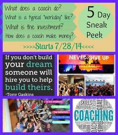Beachbody coaching and what do we actually do?! Join our free 5 day sneak peak Into what a coach does. Email me for more info Sarah.marcaurele@gmail.com