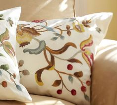 I <3 Pottery Barn's style I love these pillows, they would go great in my living room
