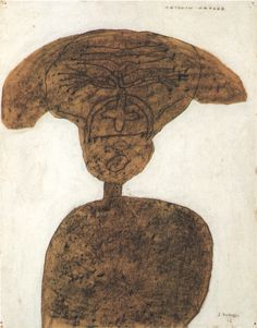 jean dubuffet, portrait d'antonin artaud,1946