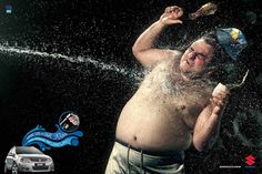 Suzuki SX4 with Sport Shower: Fat guy