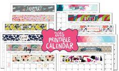 2015 Printable Calendar from Filthymuggle.com