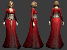 Guild Wars 2 - Human Dress Face and body by Aaron Coberly. Clothing model, texture, and design by me. Screenshot from Marmoset Toolbag. Character Modeling, Game Character, Character Design, Warhammer Online, Guild Wars 2, Art Hub, 3d Fantasy, Phan, Zbrush