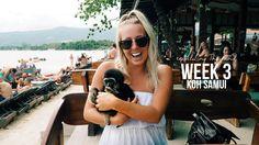 Travelling Thailand, Koh Samui, Week three. Visiting Big Buddha, Waterfalls and holding monkeys.