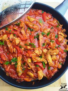 Polish Recipes, Food Design, Tomato Sauce, Bruschetta, Paella, Lunch, Dinner, Cooking, Ethnic Recipes