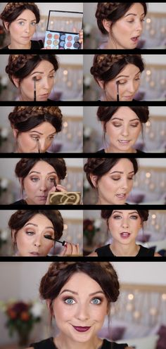 Autumn/Fall Makeup   Gold Eyes & Berry Lips   Zoella MAC Bronze eyeshadow - MAC Amber Lights eyeshadow - Charlotte Tilbury Matte Revolution Lipstick in Glaston-berry -